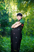 Pregnant woman in nature — Stock Photo