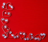 Hearts of paper quilling for Valentine's day — ストック写真