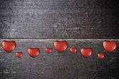 Background with hearts on Valentine's Day — Foto Stock