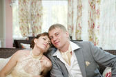 Portrait of newlyweds — Stock Photo