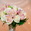 Wedding bouquet of orchids and roses — Stock Photo #40300293