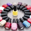 Multicolored nail polish. — Stock Photo #40410237