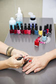 Manicure at the beauty salon — Stock Photo