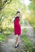 Autumn beauty woman portrait — Stock Photo