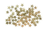 Confetti gold stars isolated on white background — Stock Photo