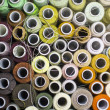 Background of colorful spools of thread — Stock Photo #42915583