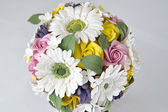 Colorful bouquet of flowers on a white background — Stock fotografie