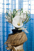 Wedding bouquet of calla lilies — Stock Photo