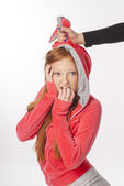 Portrait of red-haired girl — Stock Photo