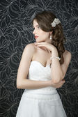 Professional makeup hairstyle bride — Stock Photo
