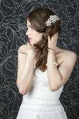 Professional makeup hairstyle bride — Stockfoto