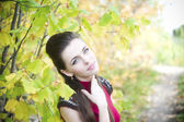 Autumn beauty woman portrait — Stockfoto