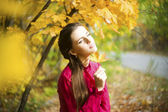 Autumn beauty woman portrait — Stock Photo