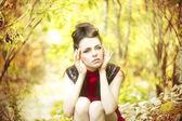Portrait de femme automne beauté — Photo