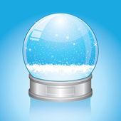 Snow Globe — Stock Vector