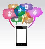 Mobile Communication — Stock Vector