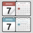 Stock Vector: Calendar Set
