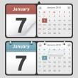 Calendar Set — Stock Vector