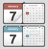 Calendar Set — Stock Vector