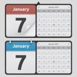 Vector Calendars — Stock Vector