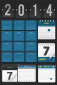 Calendario conjunto — Vector de stock