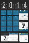Kalender set — Stockvektor