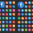 Social Media Flat Icons — Stock Vector #30867331