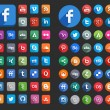Social Media Flat Icons — Stock Vector