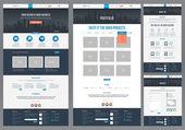Modèle de site Web plat — Vecteur