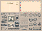 Selos postais — Vetorial Stock
