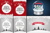 Christmas Backgrounds and Snow Globe — Stock Vector