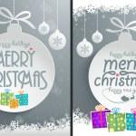 Christmas Ball Backgrounds — Stock Vector #36948271