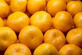 Background of fresh tangerines — Stock Photo