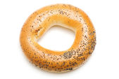 Bagel with poppy seeds, isolated — Stock Photo