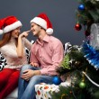 Royalty-Free Stock Photo: Happy couple,cristmas