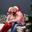 Happy couple,cristmas — Stock Photo