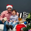 Smiling father and his son on Christmas — Stock Photo #14185009