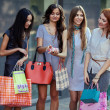 Friends at shopping - Stockfoto