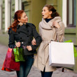 Girlfriends go shopping — Stock Photo