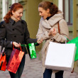 Stock Photo: Girlfriends go shopping