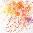 Abstract painted watercolor - Stock Photo
