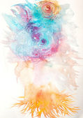 Abstract painted watercolor — Стоковое фото