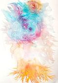 抽象的な水彩画を描いた — ストック写真