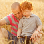 otec a syn — Stock fotografie