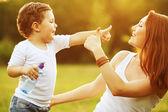 Gelukkige familie plezier. — Stockfoto