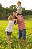 Happy family having fun — Stock Photo