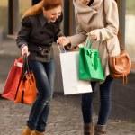 Happy girls having shopping — Stock Photo #14782661