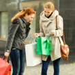 Happy girls having shopping — Stock Photo #14782665