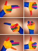 A set of hand gestures — Stock Photo
