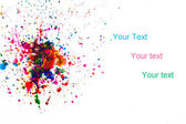 Farby, przelewanie — Zdjęcie stockowe
